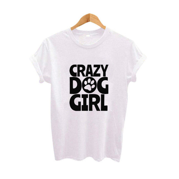 Ladies Crazy Dog Girl T Shirt