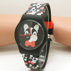 Fashion Waterproof Cartoon Casual Quartz Dog patterns Wristwatch
