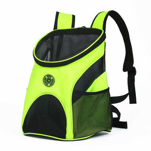 Dog Carrier Travel Bag Mesh Double Shoulder Backpack