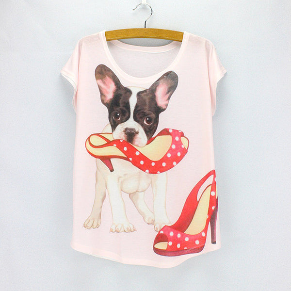 Cool tees DOG print top tees