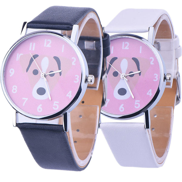 Women Cute Dog Dial Wristwatch