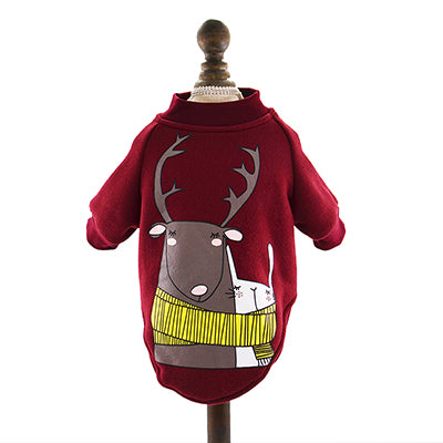 Cartoon Printed Dog Winter Costume Jumper