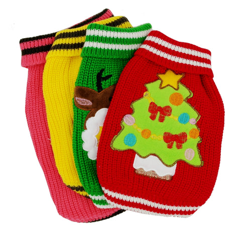 Fun Multi Coloured Christmas Doggy Jumper