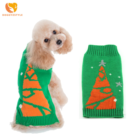 Christmas Tree Dog Sweater