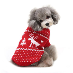 Pawstrip Deer Snow Christmas Dog  Jumper