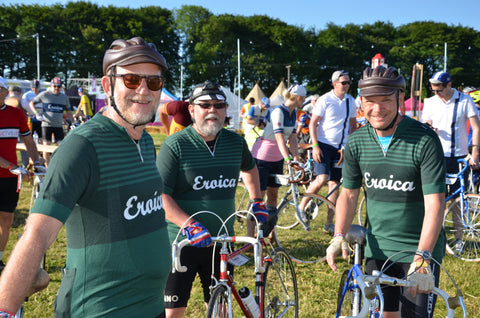green jersey riders at Eroica Britannia 2017 Derbyshire L'Eroica