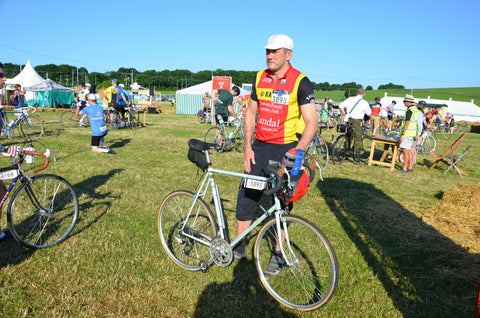 retro cyclist at Eroica Britannia 2017 Meccanica Clothing