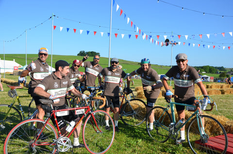 Mad italian cyclists at Eroica Britannia 2017 Meccanica Clothing