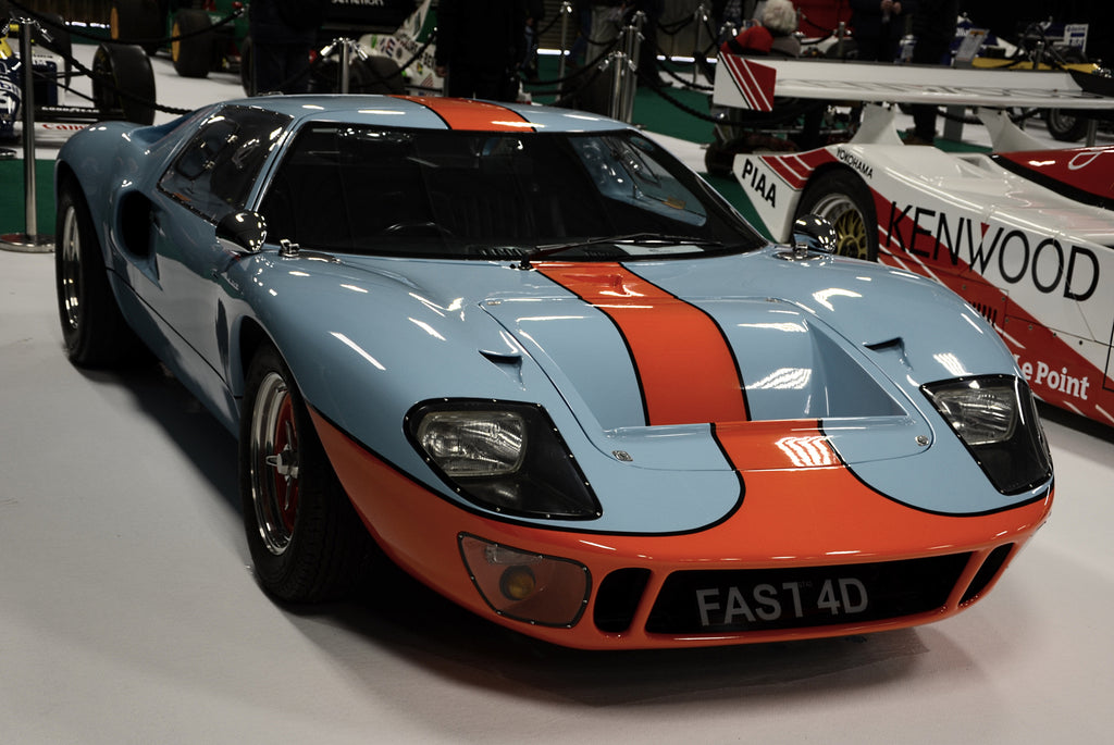 GTD Ford GT40 Replica in Gulf Oil Colours at Race Retro 2019