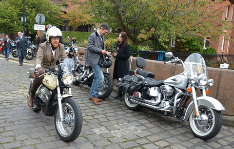 Arriving at Dukes 92 Mk 1 and California Distinguished Gentlemans Ride