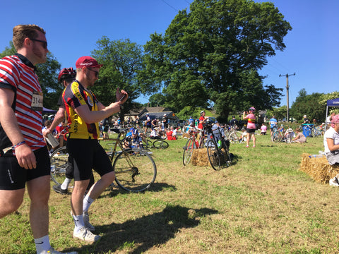 lunch stop at Eroica Britannia 2017 Derbyshire L'Eroica