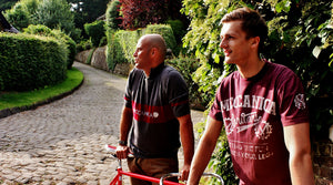 meccanica retro cycle jersey and screen print T shirt all british made