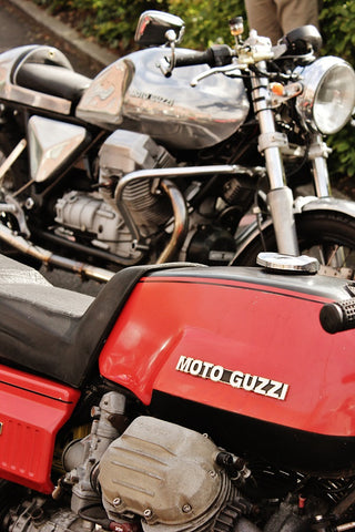Motoguzzis at Dukes 92 Mk 1 with cafe racer Distinguished Gentlemans Ride