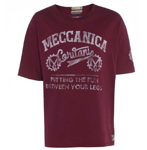 Meccanica-british-made-t-shirt-burgundy-red-fun-between