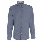 Mens British-Made button down collar Oxford shirt Grey