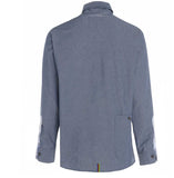 Mens British-Made button down collar Oxford shirt Grey rear pocket view