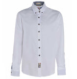 Meccanica mens white cotton Oxford shirt Made in Britain