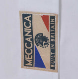 Meccanica mens white cotton Oxford shirt Made in Britain front label