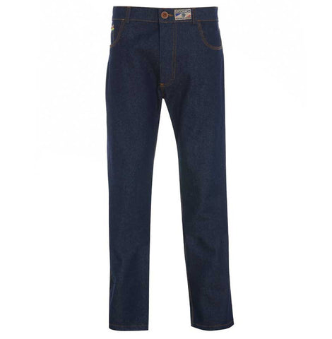 Meccanica raw denim blue straight leg British Made jeans