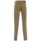 Cotton British made beige narrow leg chino jeans - triple stitched