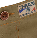 Detail front British made beige narrow leg chino jeans - triple stitched
