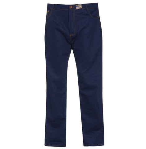 Cotton British made blue narrow leg chino jeans - triple stitched