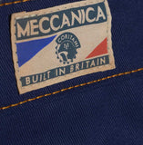 Detail Cotton British made blue narrow leg chino jeans - triple stitched