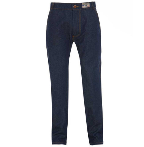 Meccanica hand made triple stitched jeans raw denim narrow leg