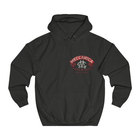 Meccanica Men's 'Parts & Service' Hoodie Black