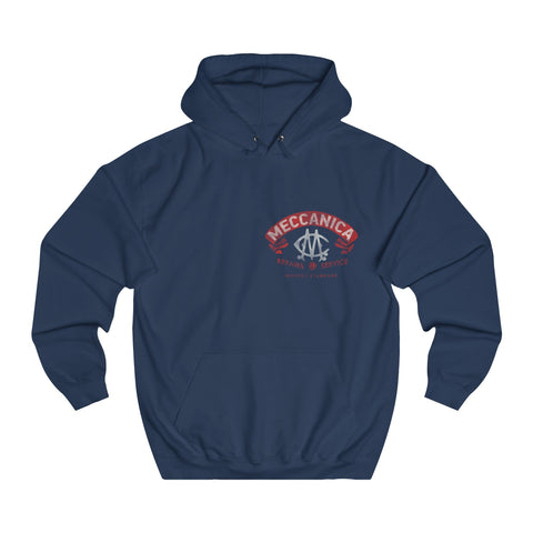Meccanica Men's Hoodie 'Parts & Service' Navy