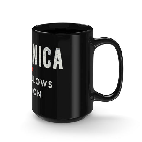 Black Meccanica Mug USA Big Size 15oz