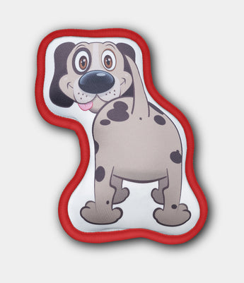 MUTT BUTTS® Toy Christmas Edition Red For Medium and Large Dogs