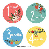 Floral Monthly Stickers For Baby Girl