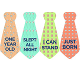Seaside Baby Boy Tie Stickers Necktie Stickers