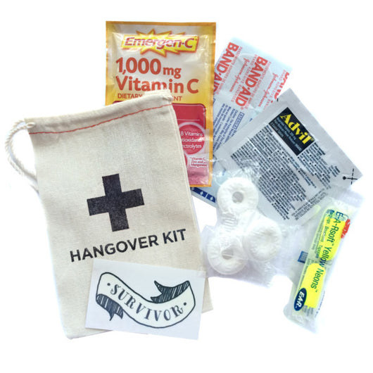 Hangover Kit Complete 3 x 5 Muslin Bag (3 - Pack)