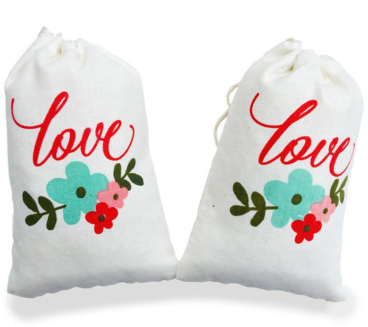 Love Floral Wedding Favor Bag 4