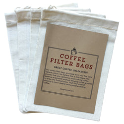 Reusable Coffee Filter Bags (4 Pk) Cold Brew Coffee Filter