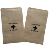 In Sickness and Health Wedding Favor Bag - 25 Bags