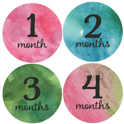 Watercolor Milestone Stickers