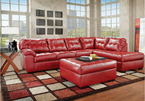 Peachy Simmons Upholstery Soho Cardinal Leather Sectional And Ottoman Ocoug Best Dining Table And Chair Ideas Images Ocougorg