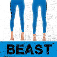 Beast - Active Gear Tights Xs / Blue Leggings