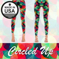 Circled Up - Active Gear Leggings Xs / Red