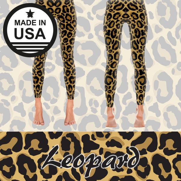 Leopard - Active Gear Tights Xs / Brown