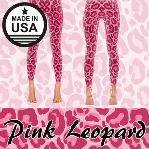 Pink Leopard - Active Gear Tights Xs /