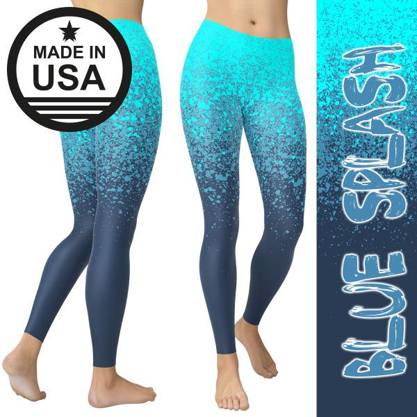 Blue Splash - Active Gear Tights Xs /