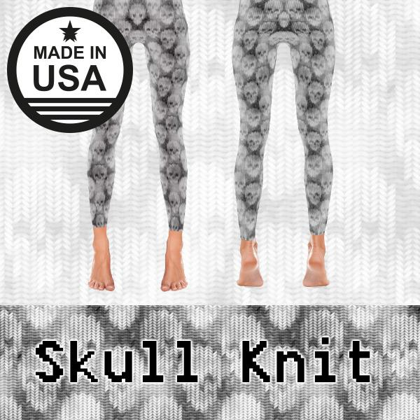 Skull Knit - Active Gear Tights Xs / Gray