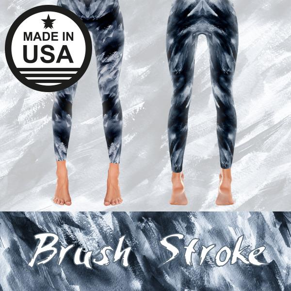 Brush Stroke - Active Gear Tights Xs / Black