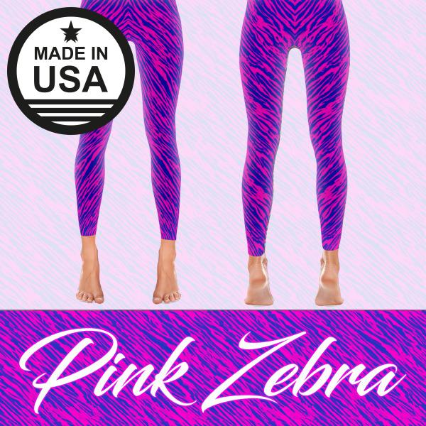 Pink Zebra - Active Gear Tights Xs / Purple