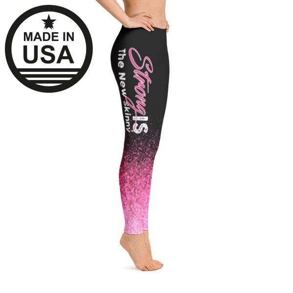 Strong Is The New Skinny Pink Splash - Active Gear Tights Xs /
