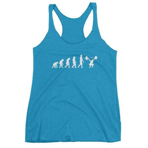 Evolution Of Woman - Racerback Tank Turquoise / Xs